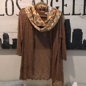 Dress Barn cami Top with matching scarf size 1XL